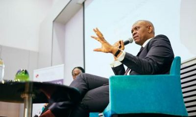Tony Elumelu, CON engaging the distinguished audience at the convening on Africa's economic transformation convened by the Tony Elumelu Foundation in Brussels on April 10, 2019