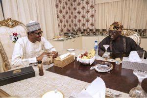 President Buhari's Breaks Fast With APC National Leader, Asiwaju Bola Tinubu (Photos)
