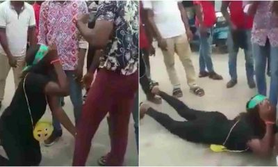 Lady Left In Tears As Boyfriend Rejects Wedding Proposal In Warri (Video)