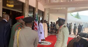 Photo Speak: George Weah Visits Buhari At Presidential Villa