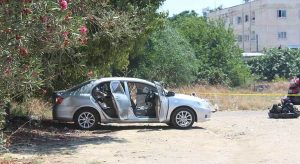The car belonging to Obasanjo Adeola Owoyale: his body was found in the booth wrapped in a blanket
