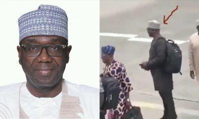Video: Kwara State Governor AbdulRahaman Abdulrazaq Spotted Queuing To Board Flight