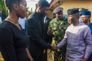 Photos: VP Osinbajo, El-Rufai Visit Family Of Late Channels Reporter, Precious Owolabi