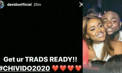 #CHIVIDO2020! Davido & Chioma Set To Wed Next Year As Singer Announces Introduction