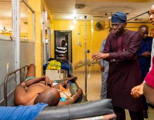 Photo News: Gov Sanwo-Olu Pays Unscheduled Visit To General Hospital, Marina