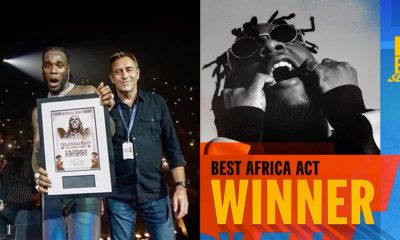 Burna Boy Wins Best Africa Act At MTV EMA (Full list of winners)