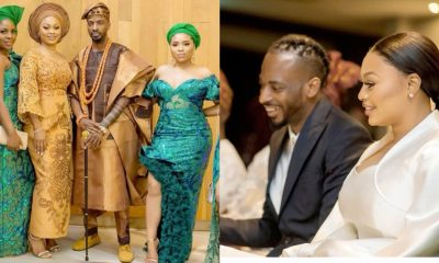 December 26th, Boxing day was more than just an additional day of festivities for singer 9ice and his beautiful new bride Olasunkanmi, as the couple made their union official by tying the the knot in court on Thursday.