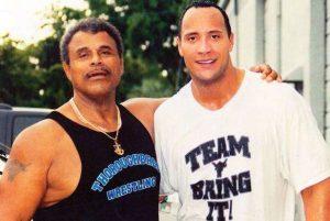 Rocky Johnson and Dwayne Johnson The Rock