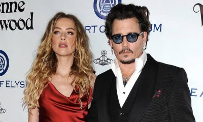 Amber Heard and Johnny Depp attend the Art of Elysium 2016 HEAVEN Gala on January 9, 2016 in Culver City, California.