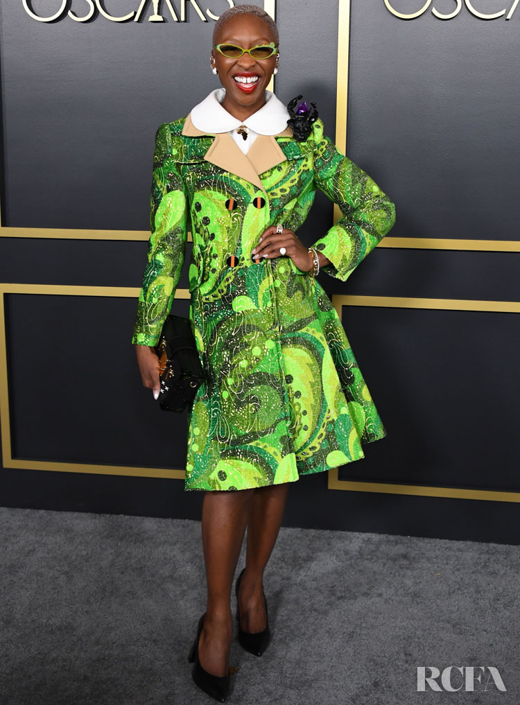 British actress Cynthia Erivo arrives for the 2020 Oscars Nominees Luncheon at the Dolby theater in Hollywood on January 27, 2020.
