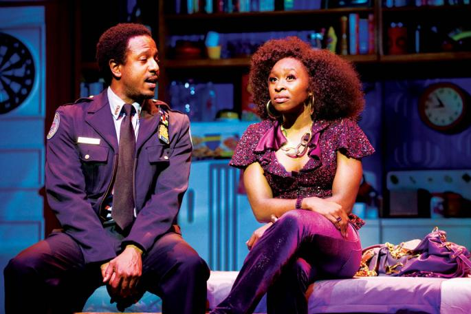Cynthia Erivo in sister act theater performance
