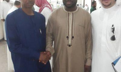 Malam Ibrahim Ibrahim in the middle