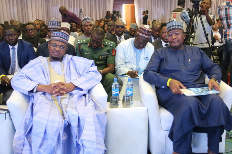 Minister of Communications and Digital Economy, Dr. Isa Ali Ibrahim Pantami and Prof. Umar Danbatta, Executive Vice Chairman, NCC at the Annual Cyber Security Conference organised by the Nigerian Communications Commission.