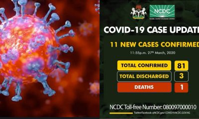 11 New Cases Of Covid-19 Confirmed By NCDC