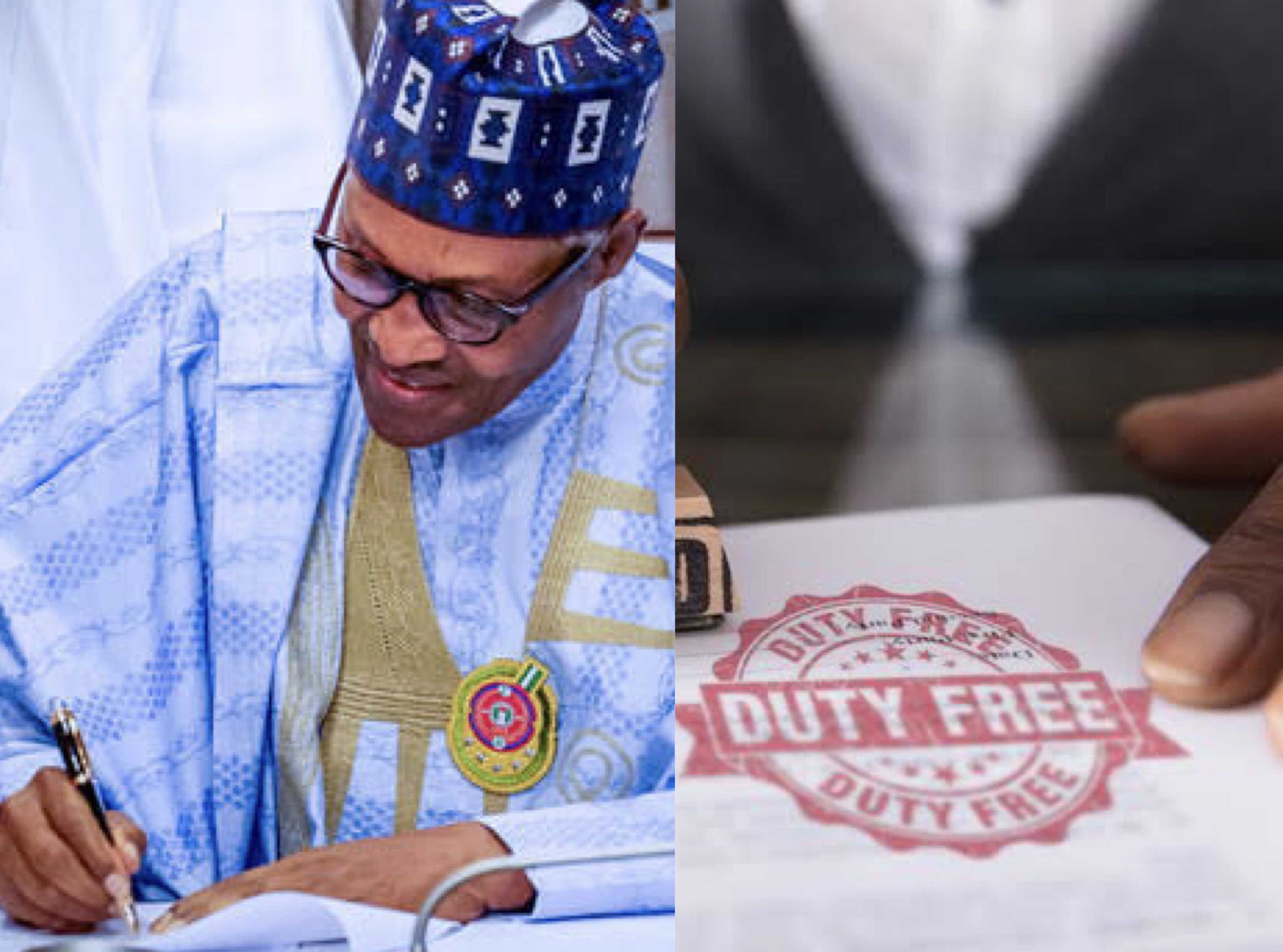 President Buhari import duty waiver