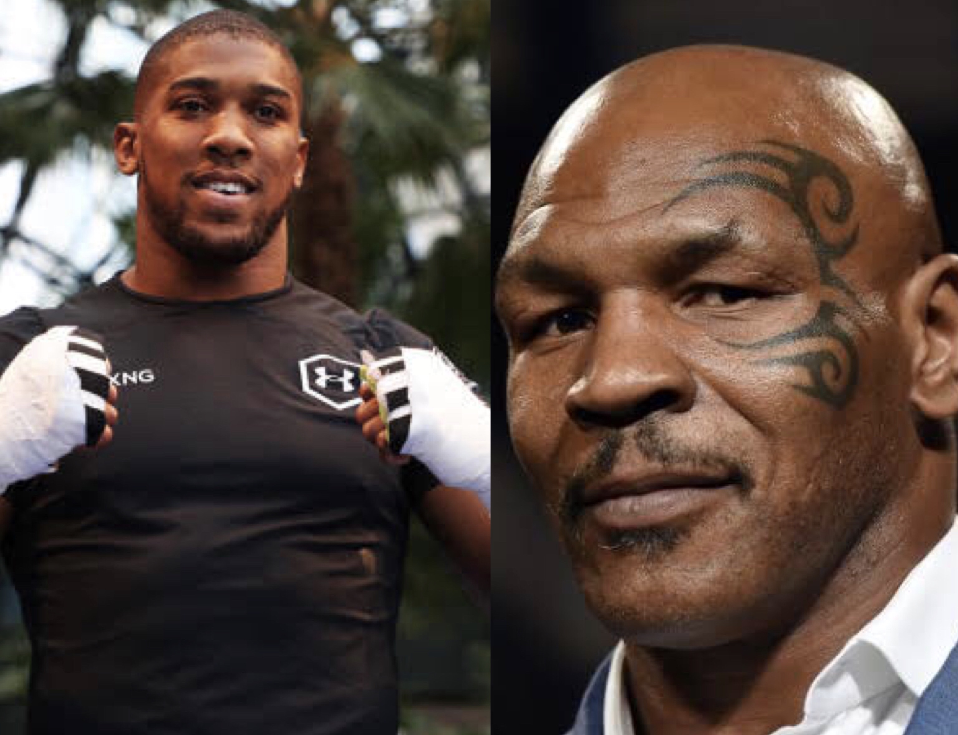 Anthony Joshua and Mike Tyson