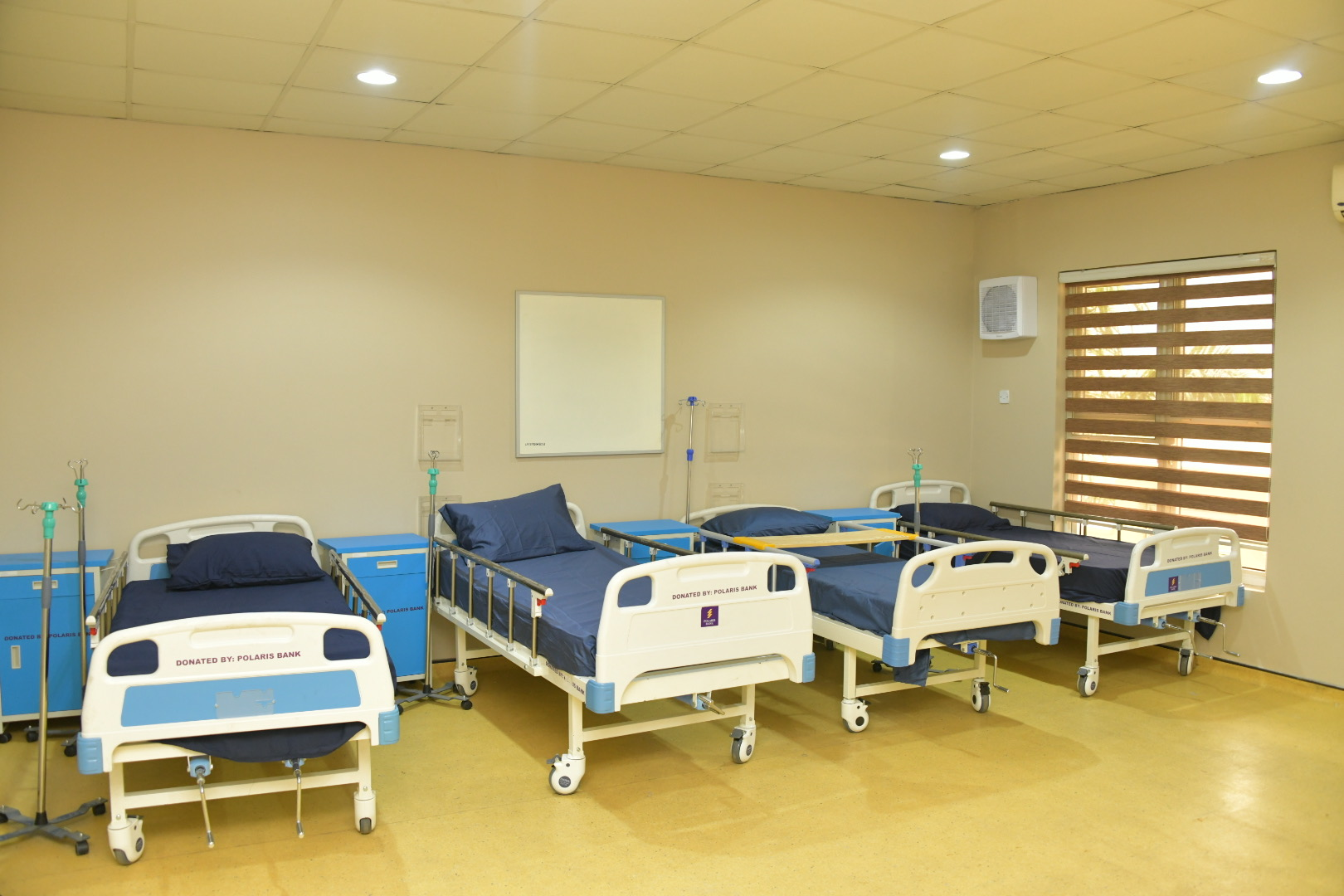 The Isolation Centre for Coronavirus treatment at the Gbagada General Hospital, unveiled by Governor Babajide Sanwo-Olu, on Friday, May 1, 2020.