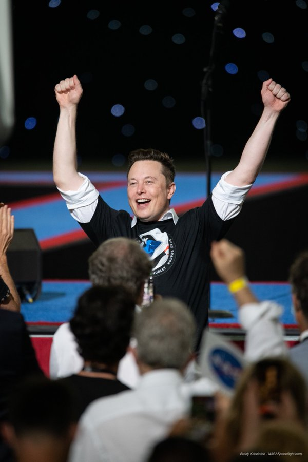 Elon Musk excited after successful launch