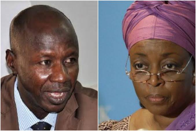 EFCC Magu and Diezani Madueke