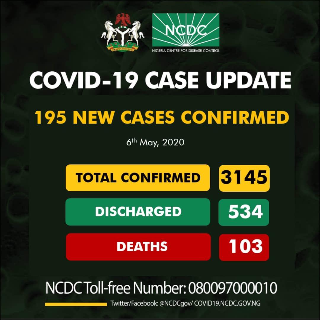 New cases in Nigeria