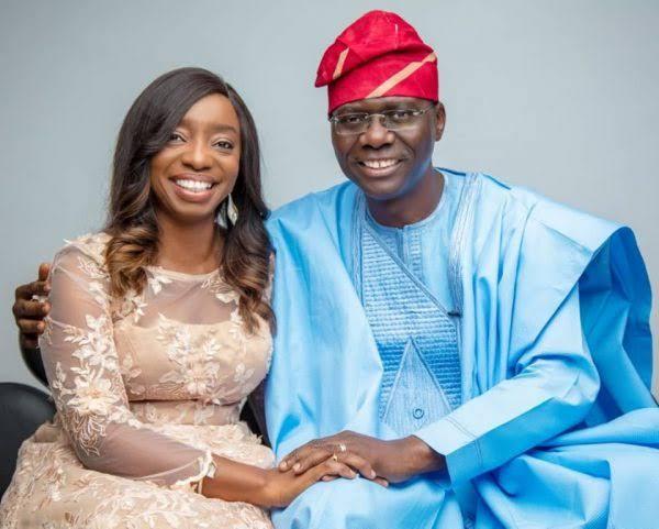 Governor Sanwo-Olu and his wife, Ibijoke