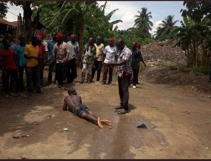 Pastor Obeni bring flogged