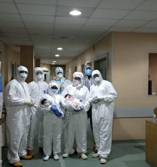 Coronavirus patient delivers twins