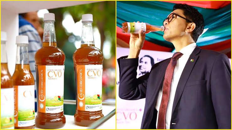 Madagascan president and COVID-Organics