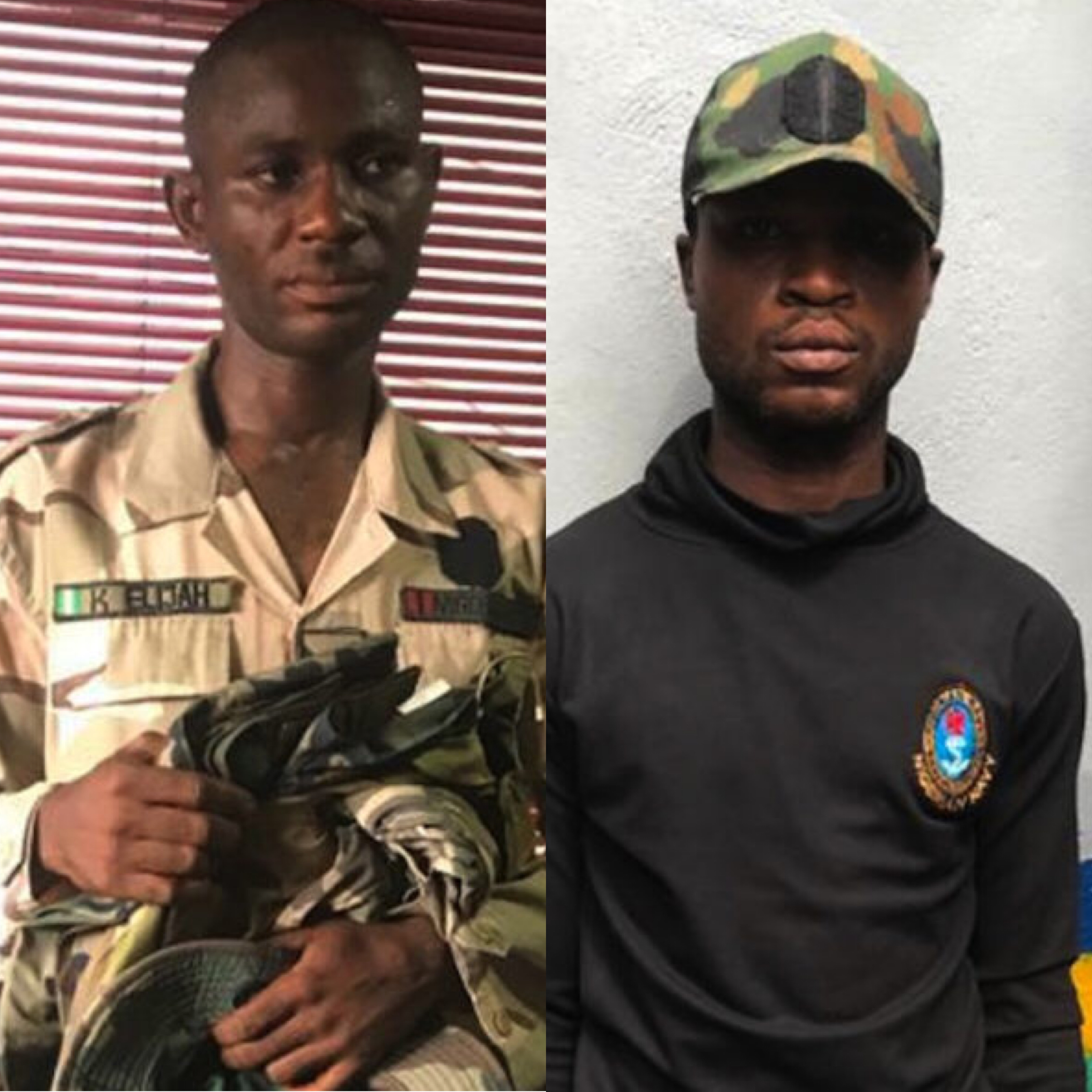 Police Police arrests two fake soldiers