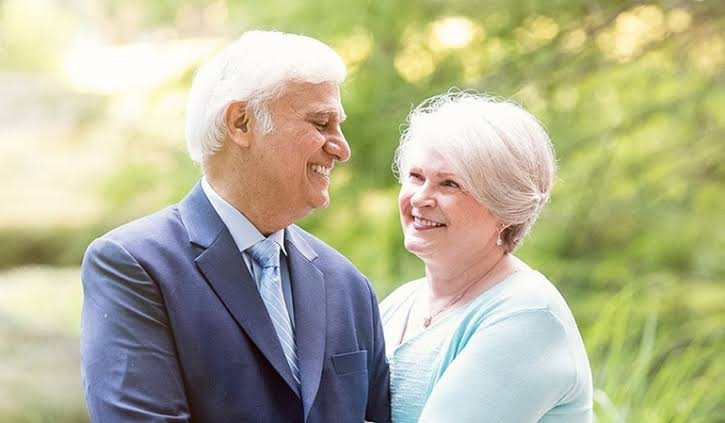 Ravi Zacharias and his wife