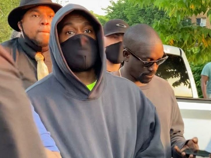 Kanye West joins George Floyd protesters