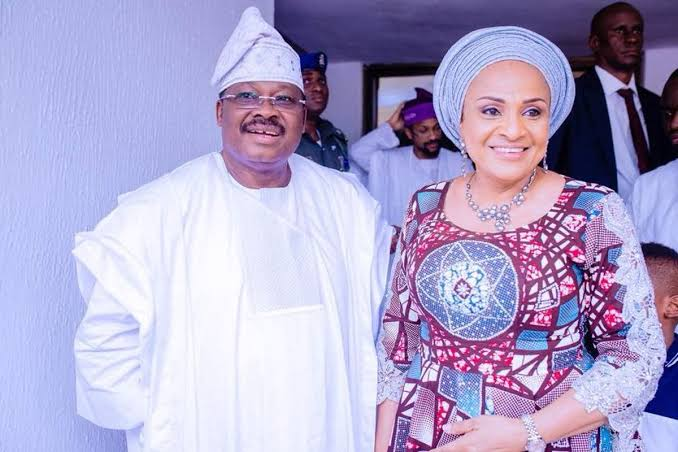 Abiola Ajimobi and wife Florence allegedly tests positive for coronavirus