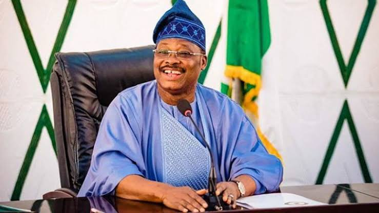 Former governor of Oyo, Abiola Ajimobi as acting APC National Chairman