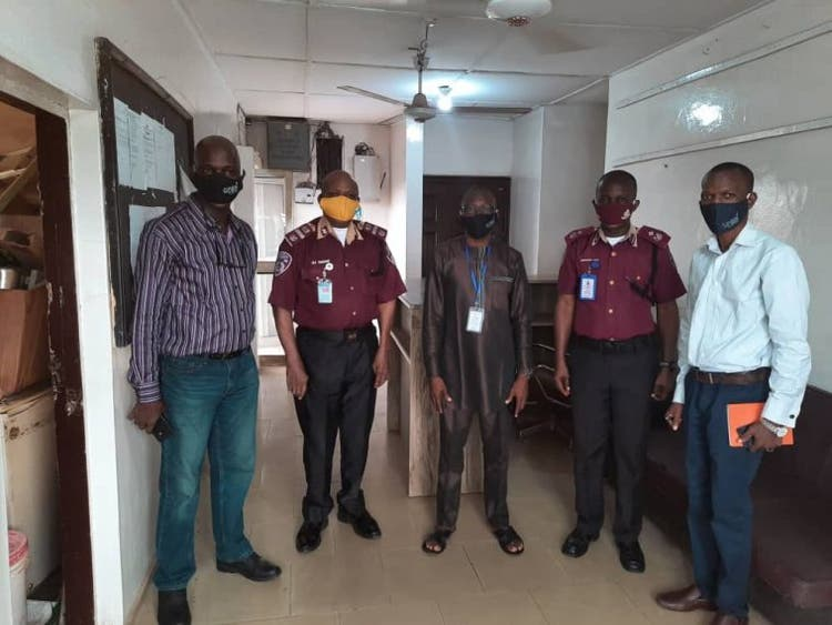 Guild of Professional Bloggers of Nigeria (GPBN) donates face masks to FRSC