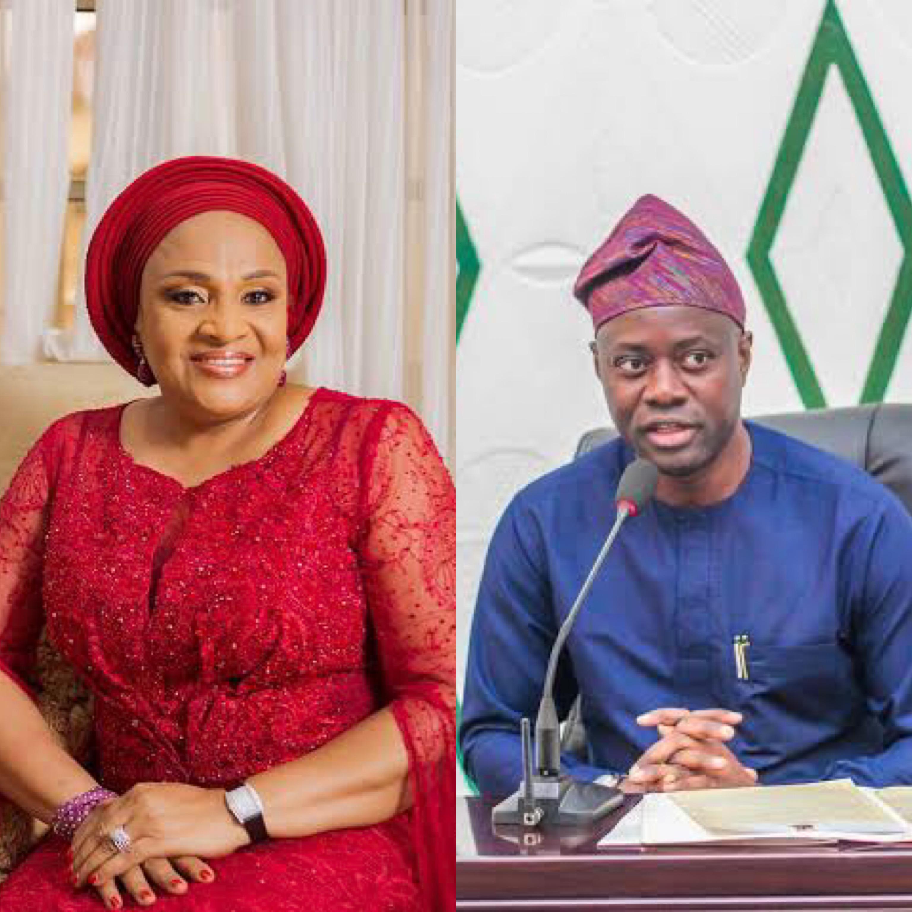 Florence Ajimobi and Seyi Makinde of Oyo state