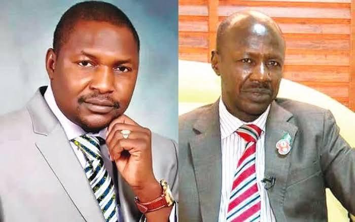 L-R: Abubakar Malami and Ibrahim Magu