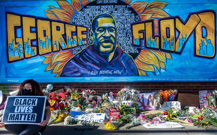 A memorial to George Floyd in Minneapolis, the city in which he died at the hands of a police officer. Photo: AFP