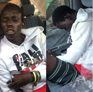 Thief arrested after sleeping off in car