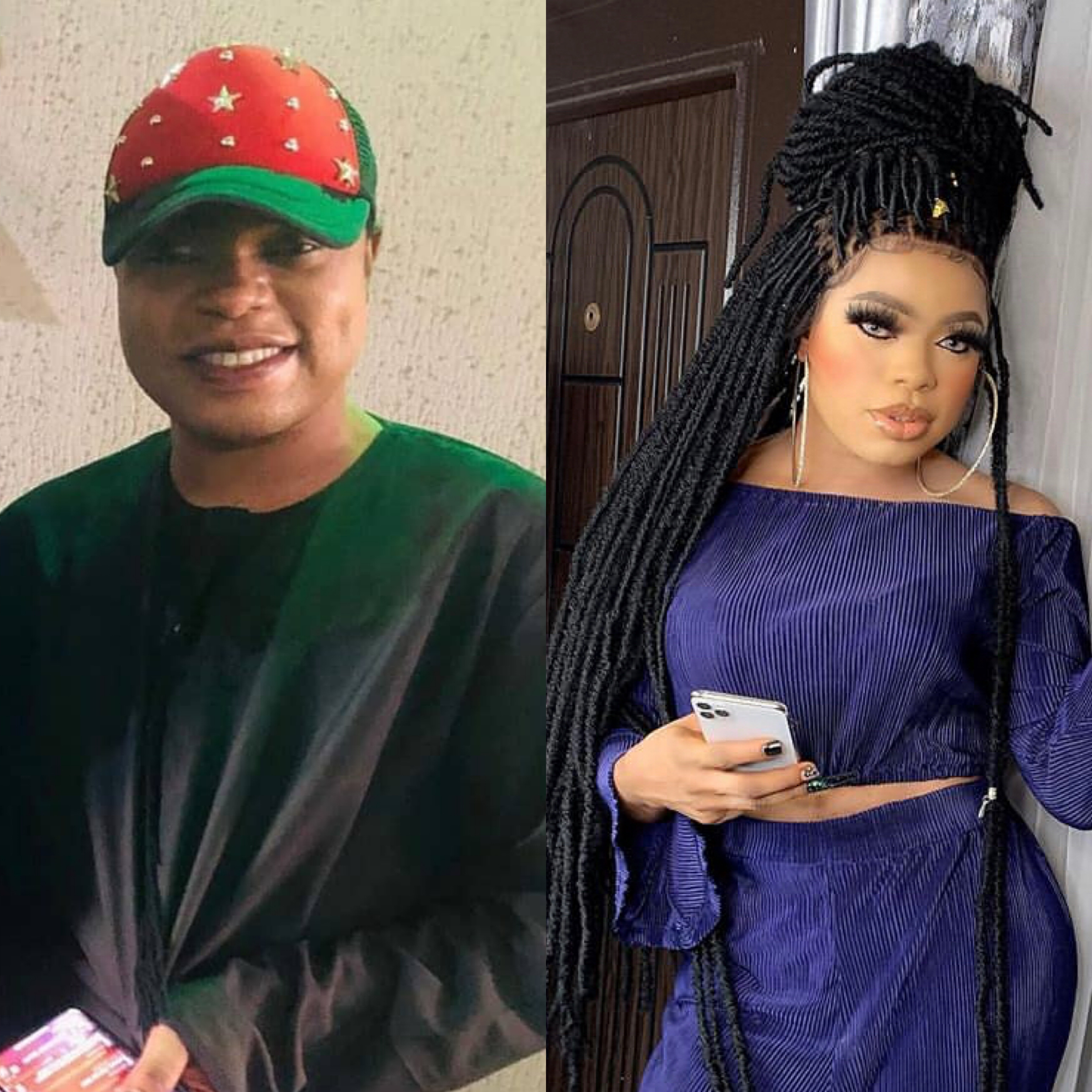Bobrisky attends father's birthday dressed as a man