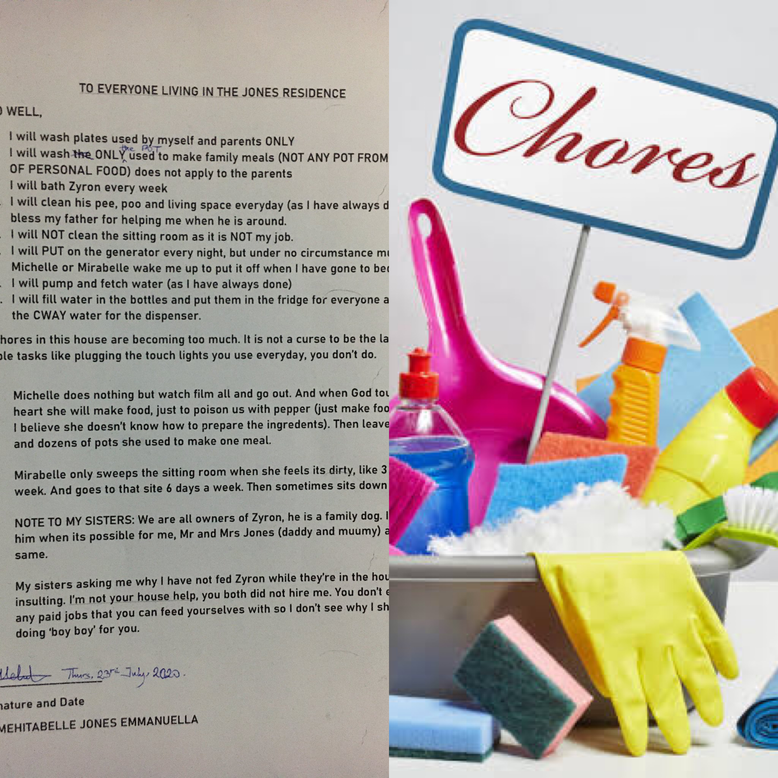 'My Chores Are Becoming Too Much, It's Not A Curse To Be Last Born' - Child Tired Of Running Errands Writes Hilarious Letter To Family