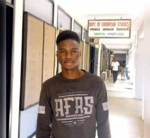 21-year-old student of the University of Ibadan, Gbadebo Richard
