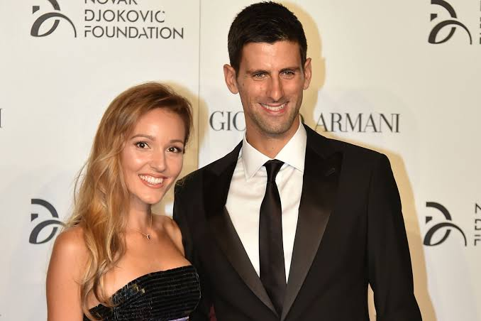 Novak Djokovic and wife, Jelena