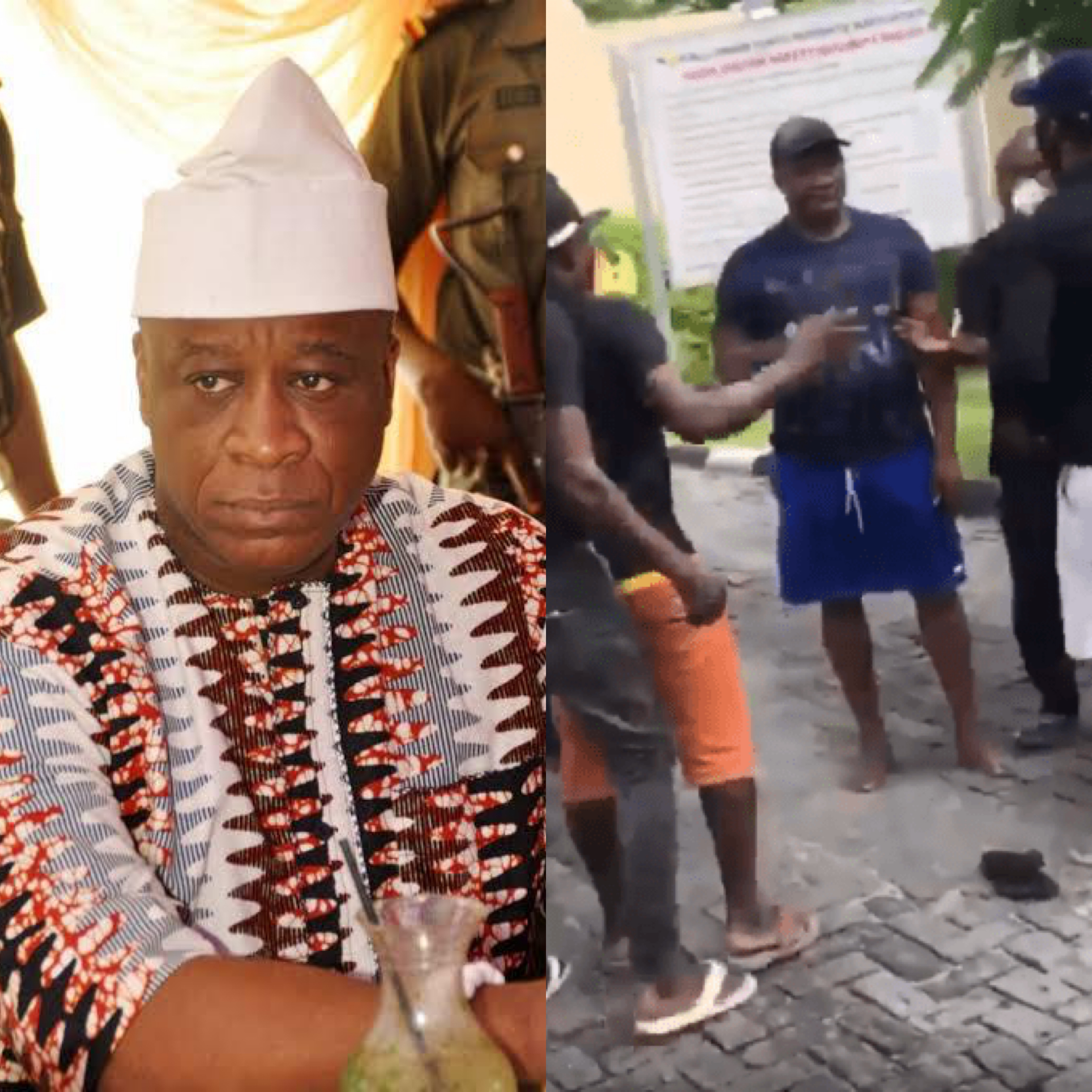 Tijani Oniru being attacked by unknown men on Sunday