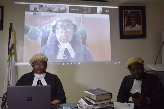 Virtual court proceeding