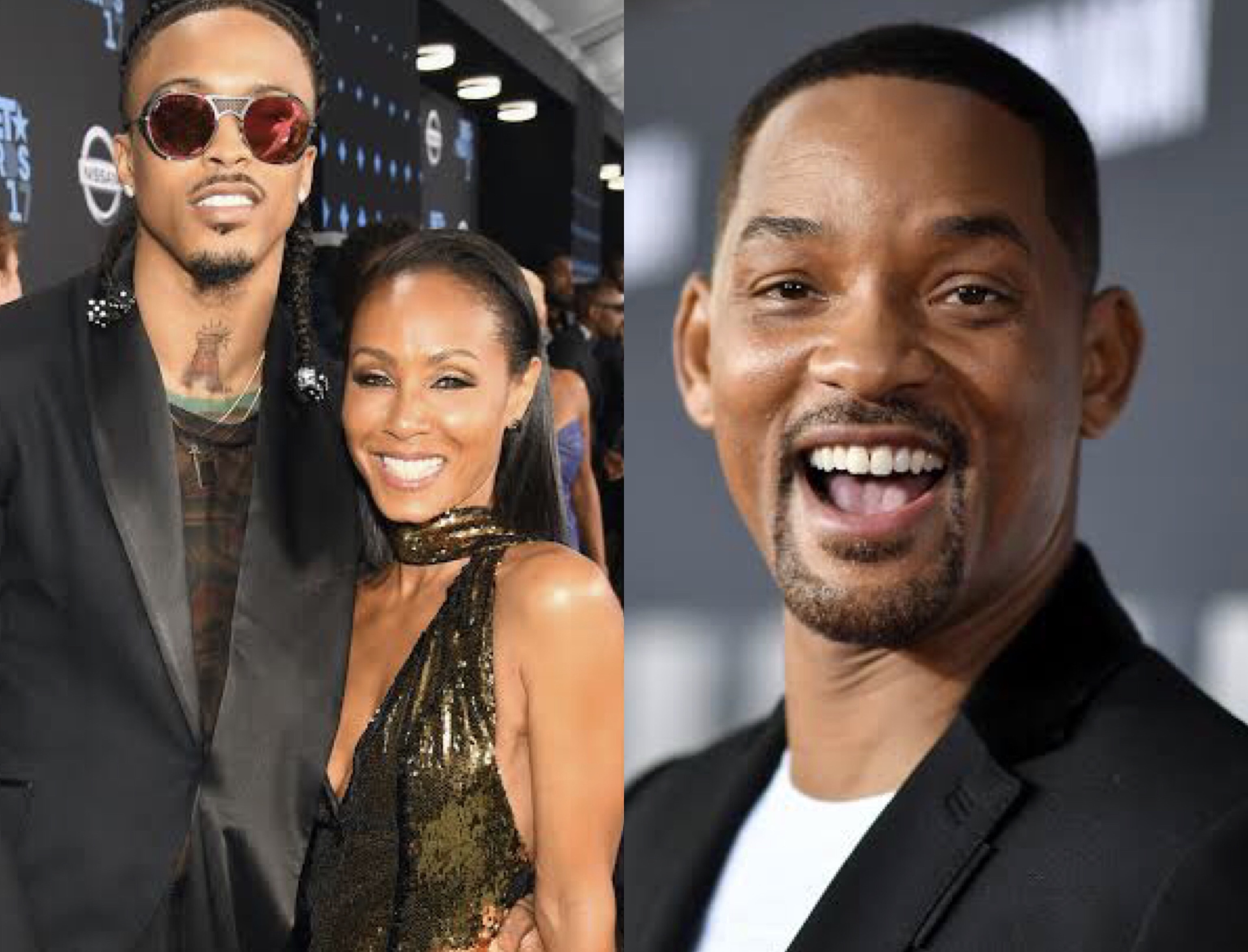 August Alsina, Jada Pinkett and Will Smith