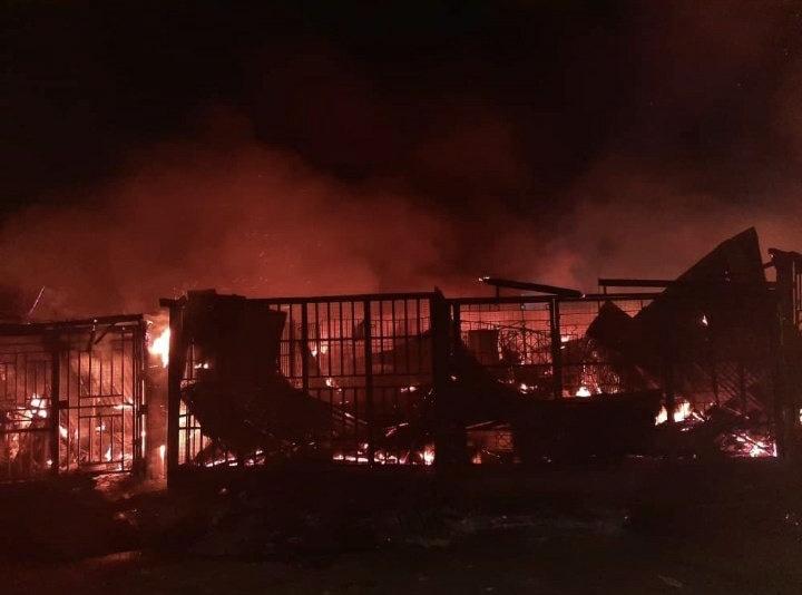 Calabar market fire