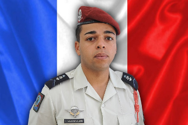 "France's soldier Tojohasina Razafintsalama, from Tarbes, southern France was killed, ""during fighting against armed terrorist groups"", announced the Elysee Palace. (Photo by Handout / FRENCH ARMY / AFP)"