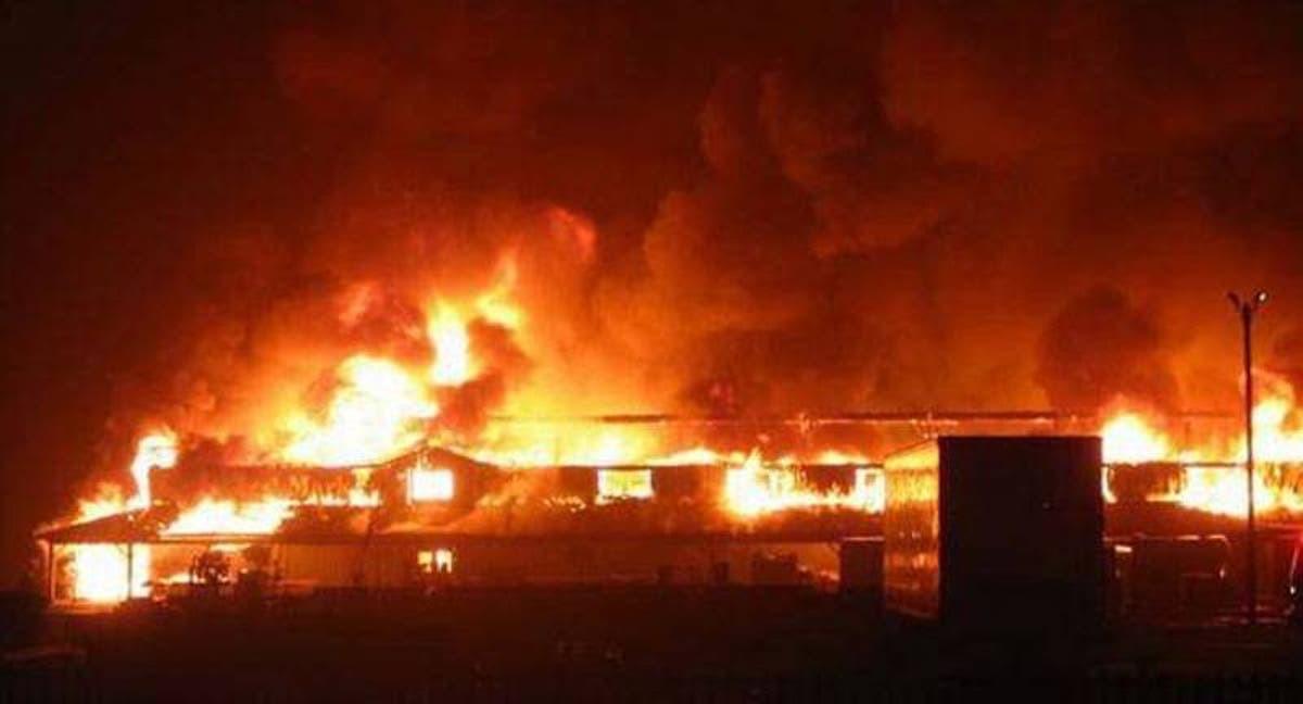 Fire outbreak in Ajao market