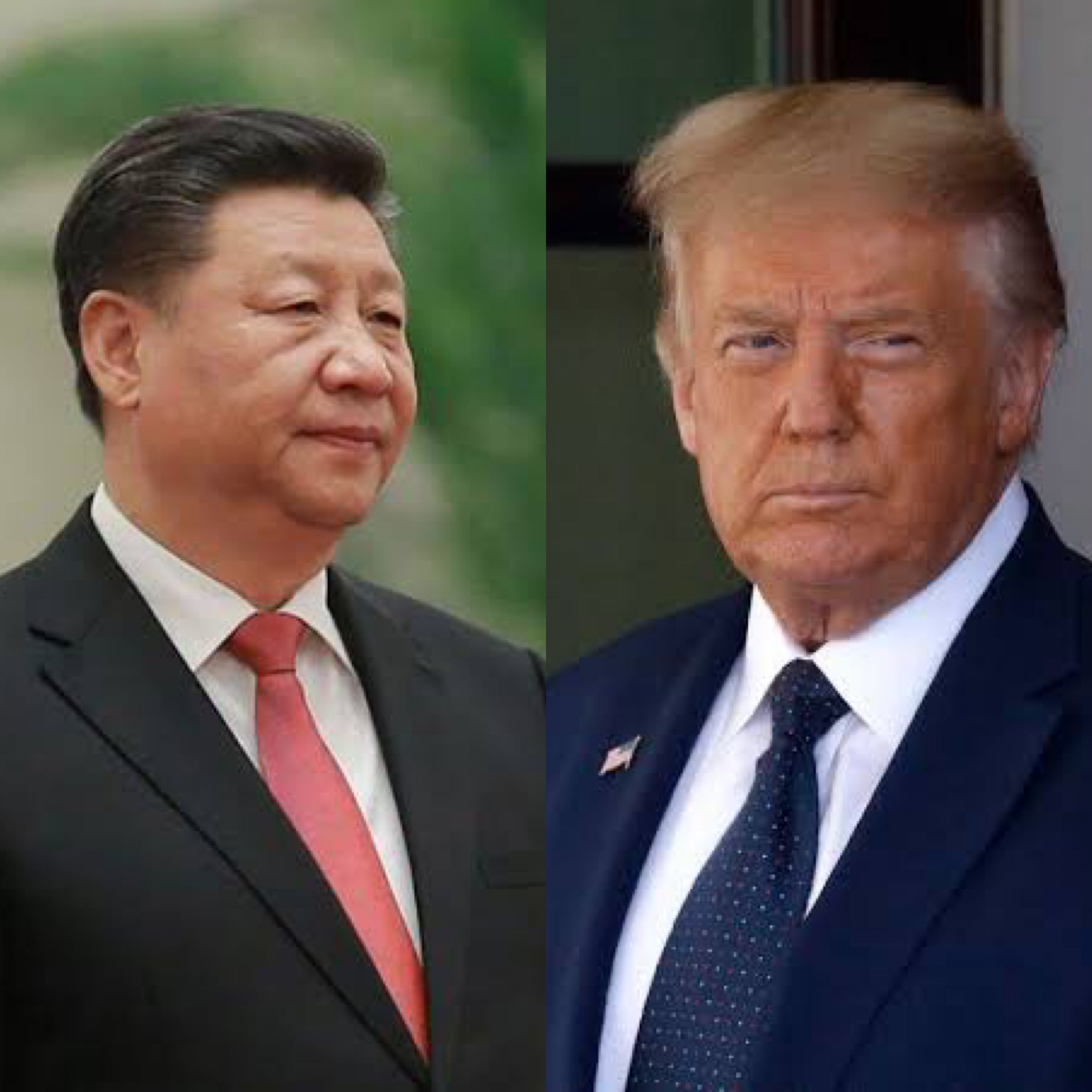 L-R: President of China, Xi Jinping and President of US, Donald Trump