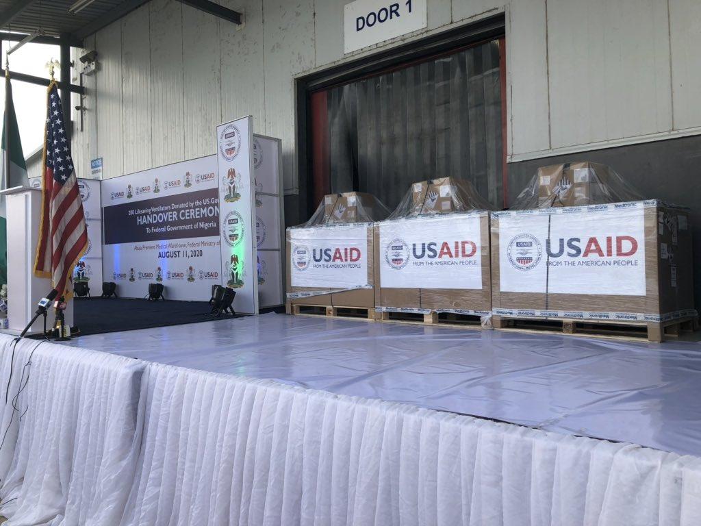 US Hands Over 200 Ventilators To FG